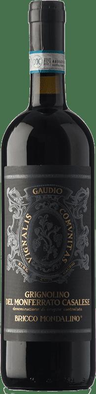 14,95 € Free Shipping | Red wine Gaudio D.O.C. Grignolino del Monferrato Casalese Piemonte Italy Grignolino Bottle 75 cl