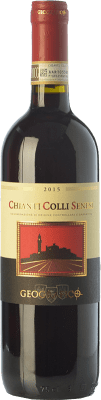 9,95 € Free Shipping | Red wine Geografico Colli Senesi D.O.C.G. Chianti Tuscany Italy Sangiovese, Canaiolo Bottle 75 cl