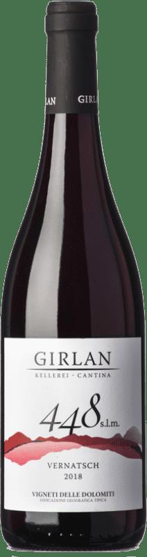 9,95 € Envío gratis | Vino tinto Girlan 448 S.L.M. Rosso I.G.T. Vigneti delle Dolomiti Trentino Italia Pinot Negro, Lagrein, Schiava Botella 75 cl