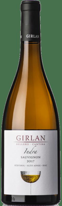 12,95 € Envío gratis | Vino blanco Girlan Sauvignon Indra D.O.C. Alto Adige Trentino-Alto Adige Italia Sauvignon Blanca Botella 75 cl
