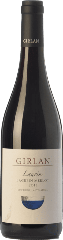 19,95 € Envío gratis | Vino tinto Girlan Laurin D.O.C. Alto Adige Trentino-Alto Adige Italia Merlot, Lagrein Botella 75 cl