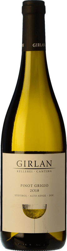 14,95 € Free Shipping | White wine Girlan D.O.C. Alto Adige Trentino-Alto Adige Italy Pinot Grey Bottle 75 cl