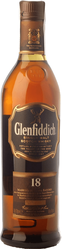 72,95 € Free Shipping | Whisky Single Malt Glenfiddich 18 Speyside United Kingdom Bottle 70 cl