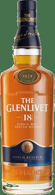 65,95 € Free Shipping | Whisky Single Malt Glenlivet 18 Speyside United Kingdom Bottle 70 cl