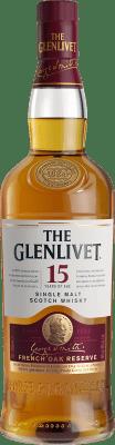 62,95 € Envoi gratuit | Whisky Single Malt Glenlivet French Oak 15 Speyside Royaume-Uni Bouteille 70 cl