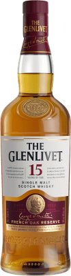 51,95 € Free Shipping | Whisky Single Malt Glenlivet French Oak 15 Speyside United Kingdom Bottle 70 cl