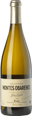 39,95 € Free Shipping | White wine Gómez Cruzado Montes Obarenes Crianza D.O.Ca. Rioja The Rioja Spain Viura, Tempranillo White Bottle 75 cl