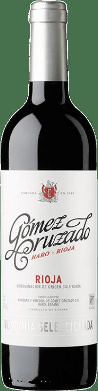 11,95 € Envío gratis | Vino tinto Gómez Cruzado Vendimia Seleccionada Joven D.O.Ca. Rioja La Rioja España Tempranillo, Garnacha Botella 75 cl