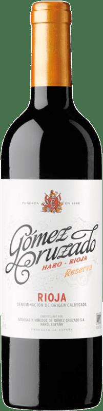 19,95 € Envío gratis | Vino tinto Gómez Cruzado Reserva D.O.Ca. Rioja La Rioja España Tempranillo Botella 75 cl