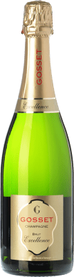 39,95 € Free Shipping | White sparkling Gosset Excellence Brut Reserva A.O.C. Champagne Champagne France Pinot Black, Chardonnay, Pinot Meunier Bottle 75 cl | Thousands of wine lovers trust us to get the best price guarantee, free shipping always and hassle-free shopping and returns.