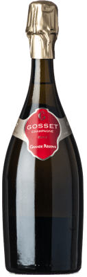 55,95 € Free Shipping | White sparkling Gosset Grande Réserve Brut Gran Reserva A.O.C. Champagne Champagne France Pinot Black, Chardonnay, Pinot Meunier Bottle 75 cl. | Thousands of wine lovers trust us to get the best price guarantee, free shipping always and hassle-free shopping and returns.