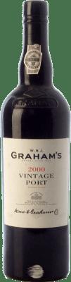 101,95 € Envío gratis | Vino generoso Graham's Vintage Port 2000 I.G. Porto Porto Portugal Touriga Nacional Botella 75 cl
