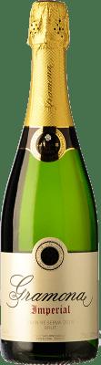 19,95 € Бесплатная доставка | Белое игристое Gramona Imperial Gran Reserva D.O. Cava Каталония Испания Macabeo, Xarel·lo, Chardonnay бутылка 75 cl | Тысячи любителей вина уверены, что у нас гарантирована лучшая цена, всегда поставляются бесплатно и покупают и возвращают без осложнений.