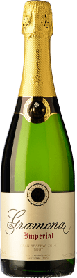 19,95 € Free Shipping | White sparkling Gramona Imperial Gran Reserva D.O. Cava Catalonia Spain Macabeo, Xarel·lo, Chardonnay Bottle 75 cl. | Thousands of wine lovers trust us to get the best price guarantee, free shipping always and hassle-free shopping and returns.