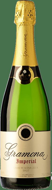 21,95 € Kostenloser Versand | Weißer Sekt Gramona Imperial Gran Reserva D.O. Cava Katalonien Spanien Macabeo, Xarel·lo, Chardonnay Flasche 75 cl
