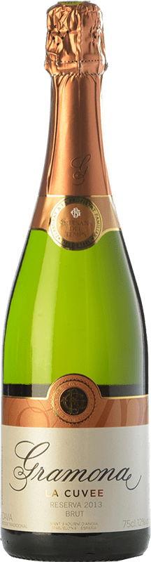 15,95 € Envio grátis | Espumante branco Gramona La Cuvée Brut Reserva D.O. Cava Catalunha Espanha Macabeo, Xarel·lo Garrafa 75 cl
