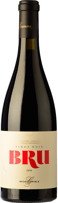 25,95 € Free Shipping | Red wine Gramona Bru de Gramona Joven D.O. Penedès Catalonia Spain Pinot Black Bottle 75 cl