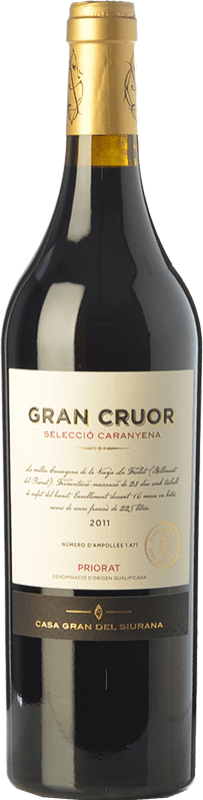 42,95 € Free Shipping | Red wine Gran del Siurana Gran Cruor Selecció Caranyena Crianza D.O.Ca. Priorat Catalonia Spain Carignan Bottle 75 cl