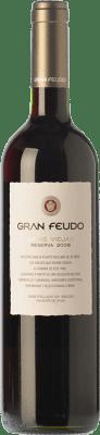 11,95 € Envío gratis | Vino tinto Gran Feudo Viñas Viejas Reserva D.O. Navarra Navarra España Tempranillo, Garnacha Botella 75 cl