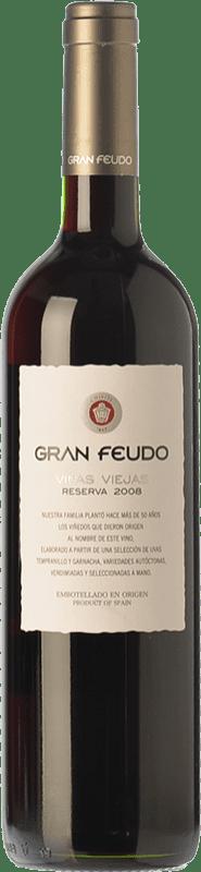 11,95 € Free Shipping | Red wine Gran Feudo Viñas Viejas Reserva D.O. Navarra Navarre Spain Tempranillo, Grenache Bottle 75 cl