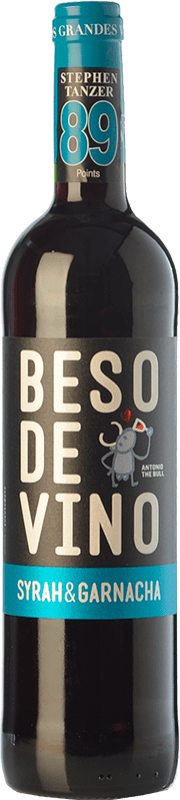 5,95 € Free Shipping | Red wine Grandes Vinos Beso de Vino Joven D.O. Cariñena Aragon Spain Syrah, Grenache Bottle 75 cl