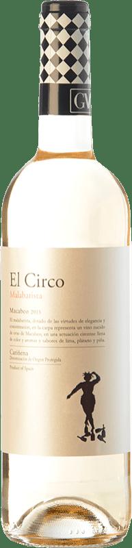 4,95 € Envío gratis | Vino blanco Grandes Vinos El Circo Malabarista Joven D.O. Cariñena Aragón España Macabeo Botella 75 cl