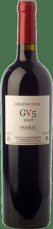 48,95 € Free Shipping | Red wine Gratavinum GV5 Joven 2010 D.O.Ca. Priorat Catalonia Spain Grenache, Cabernet Sauvignon, Carignan Bottle 75 cl