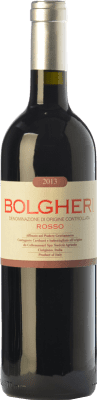 22,95 € Free Shipping | Red wine Grattamacco Rosso D.O.C. Bolgheri Tuscany Italy Merlot, Cabernet Sauvignon, Sangiovese, Cabernet Franc Bottle 75 cl