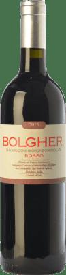 21,95 € Envío gratis | Vino tinto Grattamacco Rosso D.O.C. Bolgheri Toscana Italia Merlot, Cabernet Sauvignon, Sangiovese, Cabernet Franc Botella 75 cl