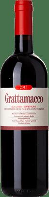 85,95 € Envío gratis | Vino tinto Grattamacco Superiore D.O.C. Bolgheri Toscana Italia Merlot, Cabernet Sauvignon, Sangiovese Botella 75 cl