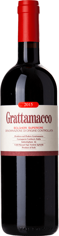 85,95 € Envoi gratuit | Vin rouge Grattamacco Superiore D.O.C. Bolgheri Toscane Italie Merlot, Cabernet Sauvignon, Sangiovese Bouteille 75 cl