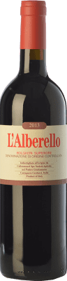63,95 € Envío gratis | Vino tinto Grattamacco Superiore L'Alberello D.O.C. Bolgheri Toscana Italia Cabernet Sauvignon, Cabernet Franc, Petit Verdot Botella 75 cl