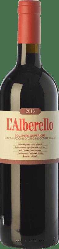 63,95 € Free Shipping | Red wine Grattamacco Superiore L'Alberello D.O.C. Bolgheri Tuscany Italy Cabernet Sauvignon, Cabernet Franc, Petit Verdot Bottle 75 cl
