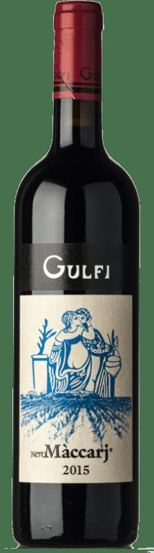 33,95 € Free Shipping | Red wine Gulfi Nero Màccarj I.G.T. Terre Siciliane Sicily Italy Nero d'Avola Bottle 75 cl