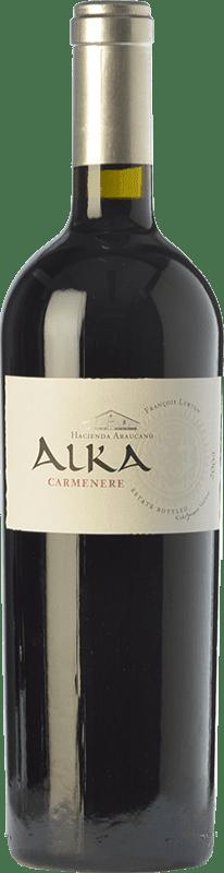 49,95 € Free Shipping | Red wine Araucano Alka Crianza I.G. Valle de Colchagua Colchagua Valley Chile Carmenère Bottle 75 cl