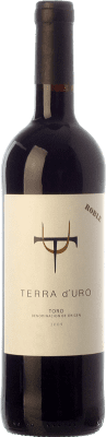 8,95 € Free Shipping | Red wine Terra d'Uro Roble Joven 2009 D.O. Toro Castilla y León Spain Tinta de Toro Bottle 75 cl