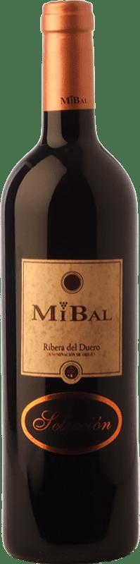 12,95 € Free Shipping | Red wine Hornillos Ballesteros Mibal Selección Crianza D.O. Ribera del Duero Castilla y León Spain Tempranillo Bottle 75 cl
