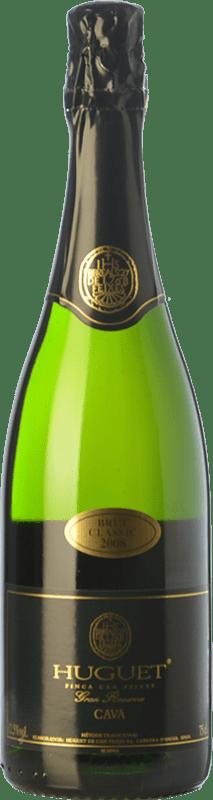 12,95 € Envío gratis | Espumoso blanco Huguet de Can Feixes Clàssic Brut Gran Reserva D.O. Cava Cataluña España Pinot Negro, Macabeo, Parellada Botella 75 cl
