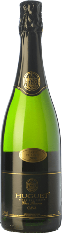14,95 € Free Shipping | White sparkling Huguet de Can Feixes Clàssic Brut Gran Reserva 2009 D.O. Cava Catalonia Spain Pinot Black, Macabeo, Parellada Bottle 75 cl