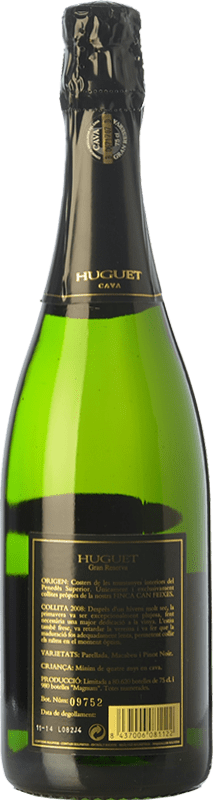 11,95 € Free Shipping   White sparkling Huguet de Can Feixes Clàssic Brut Gran Reserva 2009 D.O. Cava Catalonia Spain Pinot Black, Macabeo, Parellada Bottle 75 cl.   Thousands of wine lovers trust us to get the best price guarantee, free shipping always and hassle-free shopping and returns.