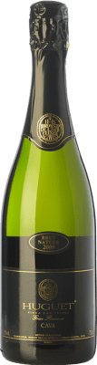 12,95 € Free Shipping | White sparkling Huguet de Can Feixes Brut Nature Gran Reserva 2009 D.O. Cava Catalonia Spain Pinot Black, Macabeo, Parellada Bottle 75 cl. | Thousands of wine lovers trust us to get the best price guarantee, free shipping always and hassle-free shopping and returns.