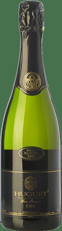 13,95 € Envío gratis | Espumoso blanco Huguet de Can Feixes Brut Nature Gran Reserva D.O. Cava Cataluña España Pinot Negro, Macabeo, Parellada Botella 75 cl