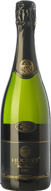 14,95 € Free Shipping | White sparkling Huguet de Can Feixes Brut Nature Gran Reserva 2009 D.O. Cava Catalonia Spain Pinot Black, Macabeo, Parellada Bottle 75 cl