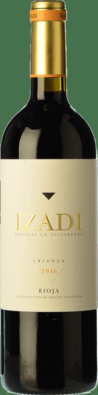 19,95 € Envio grátis | Vinho tinto Izadi Crianza D.O.Ca. Rioja La Rioja Espanha Tempranillo Garrafa Magnum 1,5 L