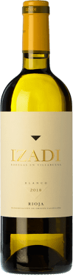 9,95 € Kostenloser Versand | Weißwein Izadi Crianza D.O.Ca. Rioja La Rioja Spanien Viura, Malvasía Flasche 75 cl