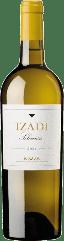 8,95 € Envío gratis | Vino blanco Izadi Crianza D.O.Ca. Rioja La Rioja España Viura, Malvasía Botella 75 cl