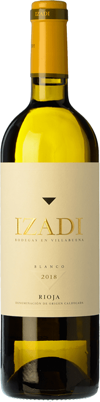 9,95 € Free Shipping | White wine Izadi Crianza D.O.Ca. Rioja The Rioja Spain Viura, Malvasía Bottle 75 cl