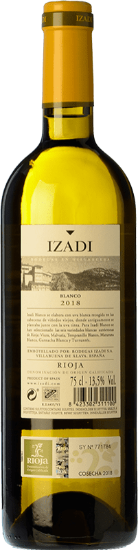 9,95 € Free Shipping | White wine Izadi Crianza D.O.Ca. Rioja The Rioja Spain Viura, Malvasía Bottle 75 cl | Thousands of wine lovers trust us to get the best price guarantee, free shipping always and hassle-free shopping and returns.