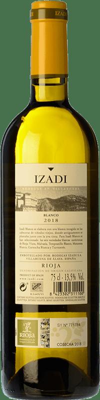 9,95 € Envio grátis | Vinho branco Izadi Crianza D.O.Ca. Rioja La Rioja Espanha Viura, Malvasía Garrafa 75 cl