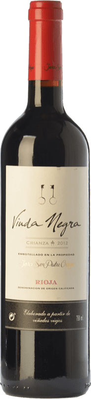 9,95 € Free Shipping | Red wine San Pedro Ortega Viuda Negra Crianza D.O.Ca. Rioja The Rioja Spain Tempranillo Bottle 75 cl